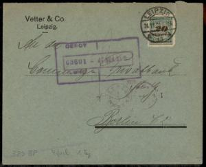 Germany High Inflation Cover 20 Billion Mark Rouletted Nov 26 1923 Mi329B  72307