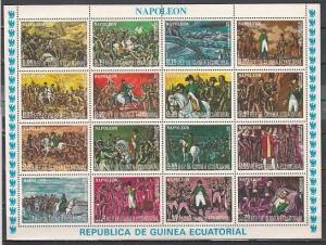 Eq. Guinea, Mi cat. 7782-7797. Napoleon Bonaparte sheet of 16.