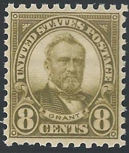 Scott #589, Unused, Original Gum, Never Hinged, 1923-29 I...