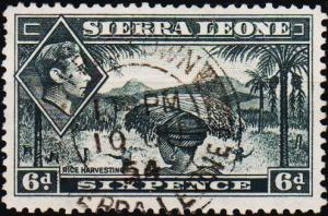 Sierra Leone. 1938 6d S.G.195 Fine Used