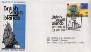 British Virgin Islands, First Day Cover, Ships