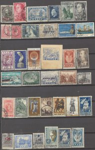 COLLECTION LOT # 3159 GREECE 36 STAMPS 1889+
