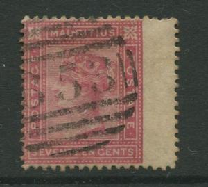 STAMP STATION PERTH: Mauritius #63 FU 1880  Single 17c Stamp