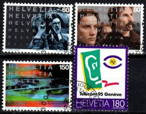 Switzerland #961-4  F-VF Used CV $4.95 (X2404)