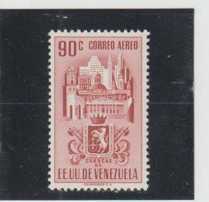 Venezuela  Scott#  C373  MH  (1951 Arms of Caracas)