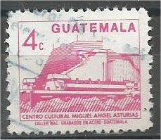 GUATEMALA, 1987, used 4c, Miguel Angel Asturias, Scott 448