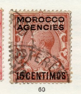 Morocco Agencies 1920s-30s Early Issue Fine Used 15c. Optd Surcharged NW-169070