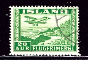 Iceland C16 Used 1934 issue Perf 12.5 x 14    (ap2652)