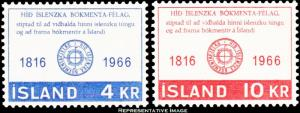 Iceland Scott 386-387 Mint never hinged.