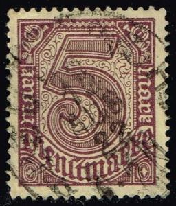 Germany #O13 Official - Numeral; CTO (0.25)