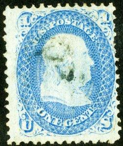 US Stamps # 92 Used Fine light cancel Scott Value $425.00
