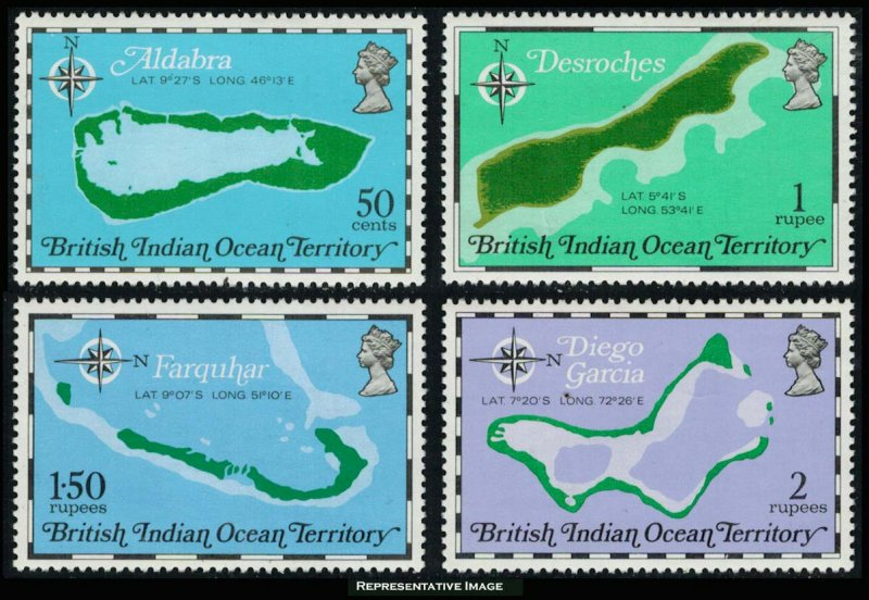 British Indian Ocean Territory Scott 82-85 Mint never hinged.