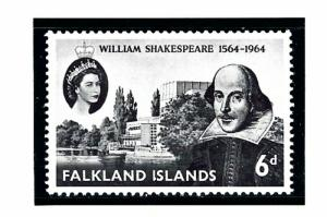 Falkland Is 149 MNH 1964 Shakespeare