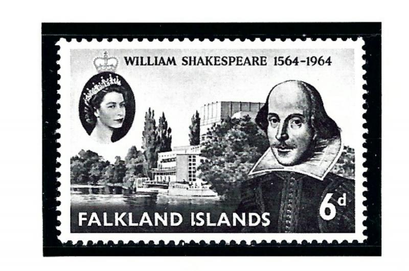Falkland Is 149 MNH 1964 Shakespeare