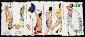 SAMOA QEII SG639-645, 1983 south pacific games set, NH MINT.