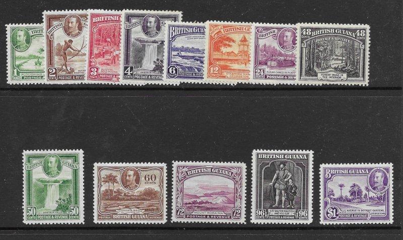 British Guiana 210-222  1934 set 13  VF VLH