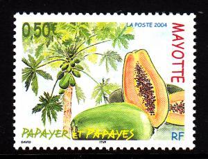 Mayotte MNH Scott #205 50c Papaya, Papaya tree