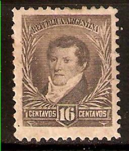 #249 ARGENTINA 1896-7 BELGRANO WM BIG SUN Sc 113,GJ 181,MT101 I. MLH