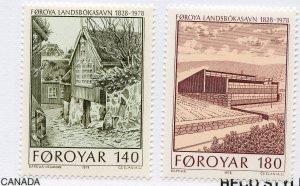 Faroe Islands, Scott #39-40, Mint, Never Hinged