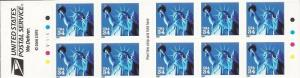 US Stamps - 2001 Statue of Liberty - Booklet of 10 Stamps #3485a