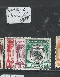MALAYA NEGRI SEMBILAN (P1208B) SG48, 50, 53  MOG