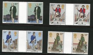Great Britain Scott 871-4 MNH** 1979 Rowland Hill gutters