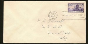 USA 950 Great Salt Lake Utah Pioneers 1947 First Day Cover