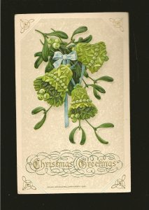 Canada 104 on PM 1925 Embossed Christmas Postcard Used