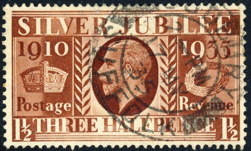 GB 1935  SUDBURY / SUFFOLK  ds on KGV Jubilee SG455 1-1/2d red-brown - VFU