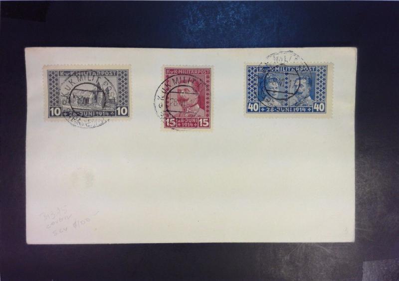 Bosnia Herzegovina 1917 Semi Postal Series On Cover (Date June 28, 1917) - Z1012