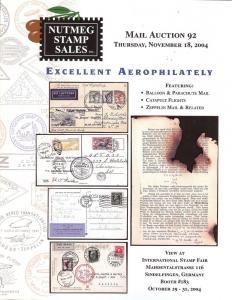 Nutmeg Stamp Sales - Excellent Aerophilately, Nutmeg 92