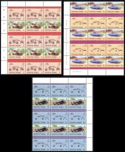 Tuvalu Nukufetau Sc# 1,4,5 MNH Blocks/15 SPECIMEN 1984-1985 5c-20c Automobiles