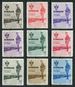 SOMALIA KING VICTOR EMMANUEL  SCOTT#B38/51  MINT HINGED ORIGINAL GUM