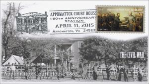 2015, Appomattox Court House, Civil War, Pictorial Postmark, April 11, 15-072