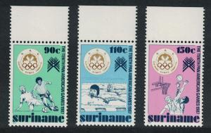 Suriname Football Basketball Swimming 3v Top Margins SG#1319-1321