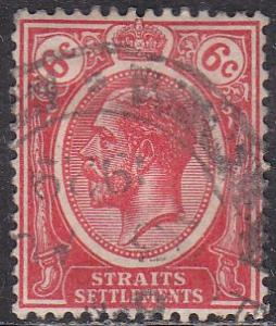 Straights Settlement 189A Hinged Used 1925 King George V
