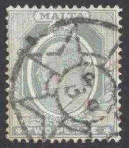 Malta Sc# 34 Used 1905 2p gray King Edward VII