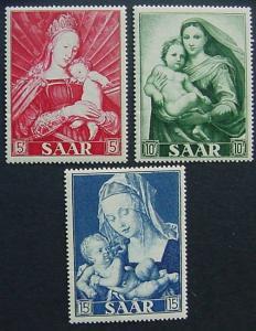 Saar, Scott 250-252, MNH Set - Madonna and Child