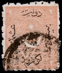 Turkey Scott 23 (1869) Used F, CV $10.00 D