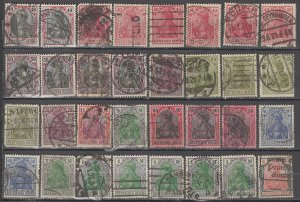 COLLECTION LOT OF #1192 GERMANY 32 GERMANIA STAMPS 1902+ CLEARANCE CV + $60