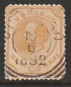 Netherlands Antilles 1886 Sc 8 used thin