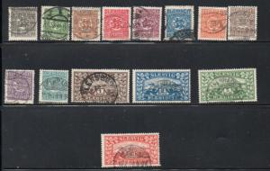 Denmark Schlesvig Sc 1-14 1920 views stamp set  used