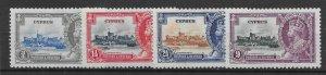 CYPRUS SG144/7 1935 SILVER JUBILEE SET MTD MINT