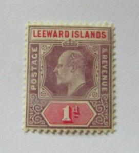 Leeward Islands  SC #30  KING EDWARD VII  MH 1d stamp