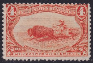 US STAMP #287 1898 4¢ Trans-Mississippi Exposition UNUSED NG crease