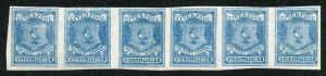 Circular Delivery SGCD50a Liverpool 1/2d blue mint horizontal group of six (imp