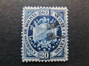 A4P30F46 Bolivia 1894 20c used