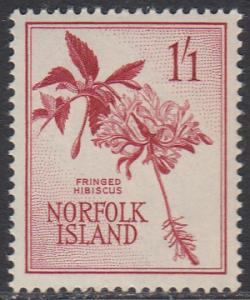 Norfolk Is. 36 MNH - Hibiscus