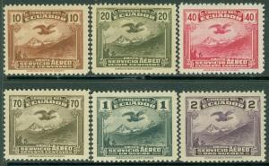 EDW1949SELL : ECUADOR 1937-46 Scott #C51-56 Complete set. VF Mint OG Catalog $65