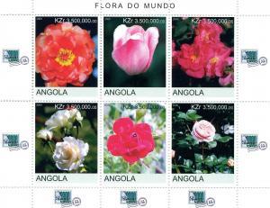 Angola 2000 ROSES London 2000 Philatelic Exhibition Sheet Perforated Mint (NH)